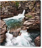 St. Mary Falls Glacier National Park Canvas Print