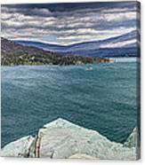 St. Mary Lake Under Stormy Skies Canvas Print