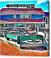 St Michaels Crab And Steak House Canvas Print