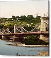 St Nicholas Bridge In Kiev - Ukraine - Ca 1900 Canvas Print
