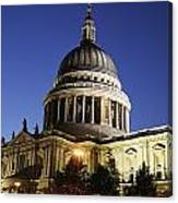 St Pauls Cathedral At Dusk, Exterior Canvas Print