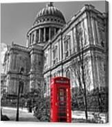 St Pauls Telephone Box Canvas Print