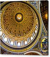 St Peter's Basilica Dome  Canvas Print