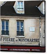 St Pierre De Montmartre Paris Scene Canvas Print