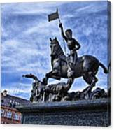 St Vitus Cathedral - St George Statue  Canvas Print