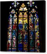 St Vitus Cathedral Stained Glass Canvas Print