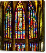 St Vitus Main Altar Stained Glass Canvas Print