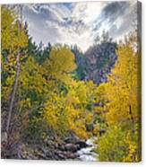St Vrain Canyon Autumn Colorado View Canvas Print