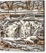 St Vrain River Waterfall   Canvas Print