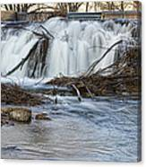 St Vrain River Waterfall Slow Flow Canvas Print
