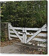 Stable Gate Canvas Print