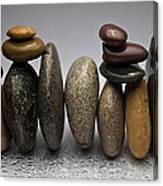Stacked River Stones Canvas Print