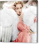 Stage Fright, Marlene Dietrich Wearing Canvas Print
