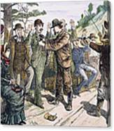 Stagecoach Robbery, 1880s Canvas Print