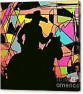 Stain Glass Cowboy Canvas Print