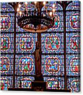 Stained Glass At Notre Dame Cathedral Canvas Print