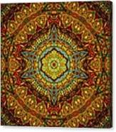 Stained Glass Gas Ring Mandala Canvas Print