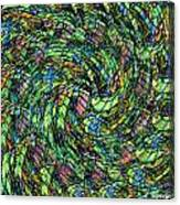 Stained Glass In Abstract Canvas Print