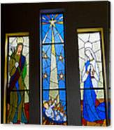 Stained Glass Nativity Canvas Print