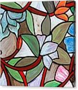 Stained Glass Wild  Flowers Canvas Print