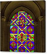 Stained Glass Window In Mezquita Canvas Print