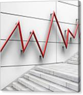 Stair Bannister Shaped Like A Graph Canvas Print