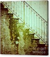 Stairs On A Rainy Day II Canvas Print