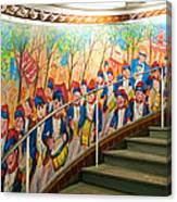 Stairway Mural At Montmartre Metro Exit Canvas Print