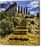 Stairway To The Past Canvas Print