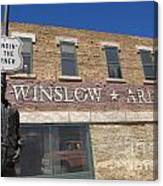 Standin On The Corner In Winslow Arizona Canvas Print