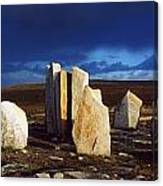 Standing Stones, Blacksod Point, Co Canvas Print