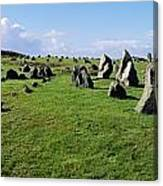 Standing Stones On A Landscape Canvas Print