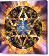 Star Of David Three Canvas Print