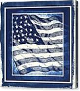 Star Spangled Banner Blue Canvas Print