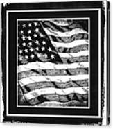 Star Spangled Banner Bw Canvas Print