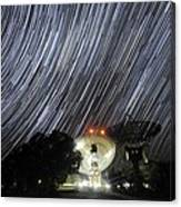 Star Trails Over Parkes Observatory Canvas Print