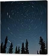 Star Trails, Sandilands Provincial Canvas Print