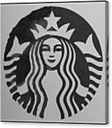 Starbuck The Mermaid In Black And White Canvas Print