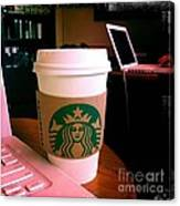 Starbucks And Computers Canvas Print