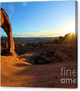 Starburst At Delicate Arch Canvas Print