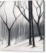 Stark Trees Canvas Print