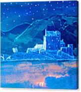 Starry Night Eilean Donan Castle Canvas Print