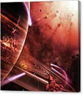 Starships Hone Their Skills Canvas Print