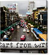 Start From Zero Canvas Print