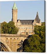 State Savings Bank, Luxembourg City, Luxembourg Canvas Print