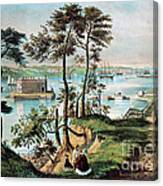 Staten Island And The Narrows, 20th Canvas Print