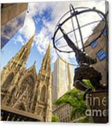 Statue And Spires Canvas Print
