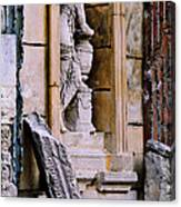 Statue In A Niche Canvas Print