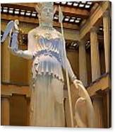 Statue Of Athena And Nike Canvas Print