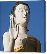 Statue Of Buddha At Wat That Luang Tai Canvas Print